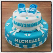 Babyshower jongetje taart