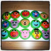 Sesamstraat Cupcakes