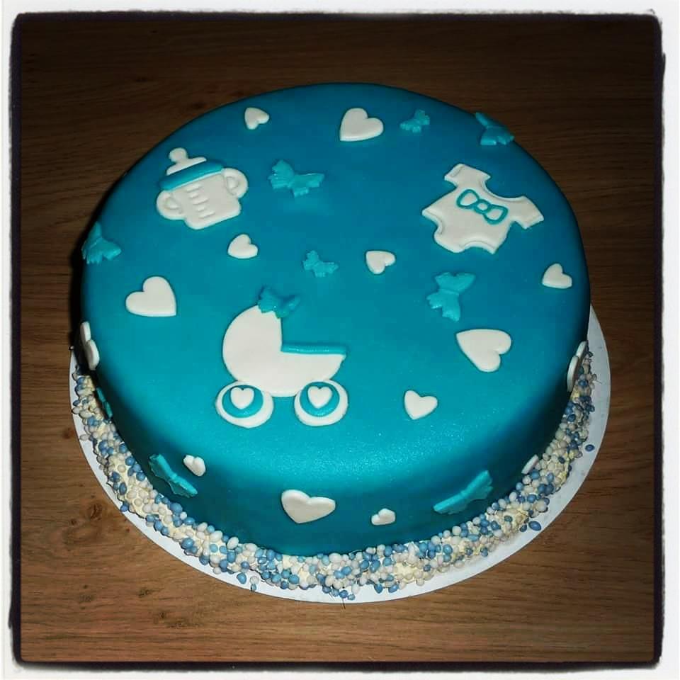 baby jongen taart Geboorte Taart Jongen (tot 25 personen 1 laag)   Cakepunt baby jongen taart