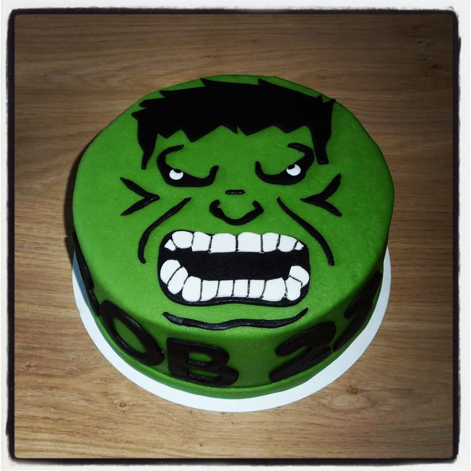 hulk taart Marvel Superhelden (Tot 25 Personen 1 laag)   Cakepunt hulk taart
